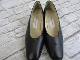 Etienne aigner navy blue leather upper 7 1/2 M ... - $19.80