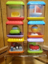 Fisher Price Peek a Blocks Learning Fun 6 Piece Block Set Vehicle Fun 2003 - $16.04