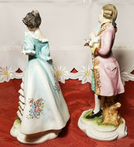 Vintage Lefton China Pair of Colonial Man & Woman Figurines KW7225 image 6