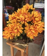 Artificial Plant Orange And Red Chrysanthemums - $18.75