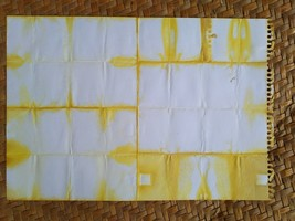 "Eco-Dyed Paper - Japanese Shibori (White/Yellow) 10.5"" x 7.5"" - $4.00"