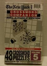 NEW YORK TIMES CROSSWORD COMPANION PUZZLE VOL #5 REFILLS - $11.99