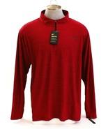 Nike Dri Fit Red 1/4 Zip Breathe Long Sleeve Standard Fit Shirt Men's NWT - $37.49