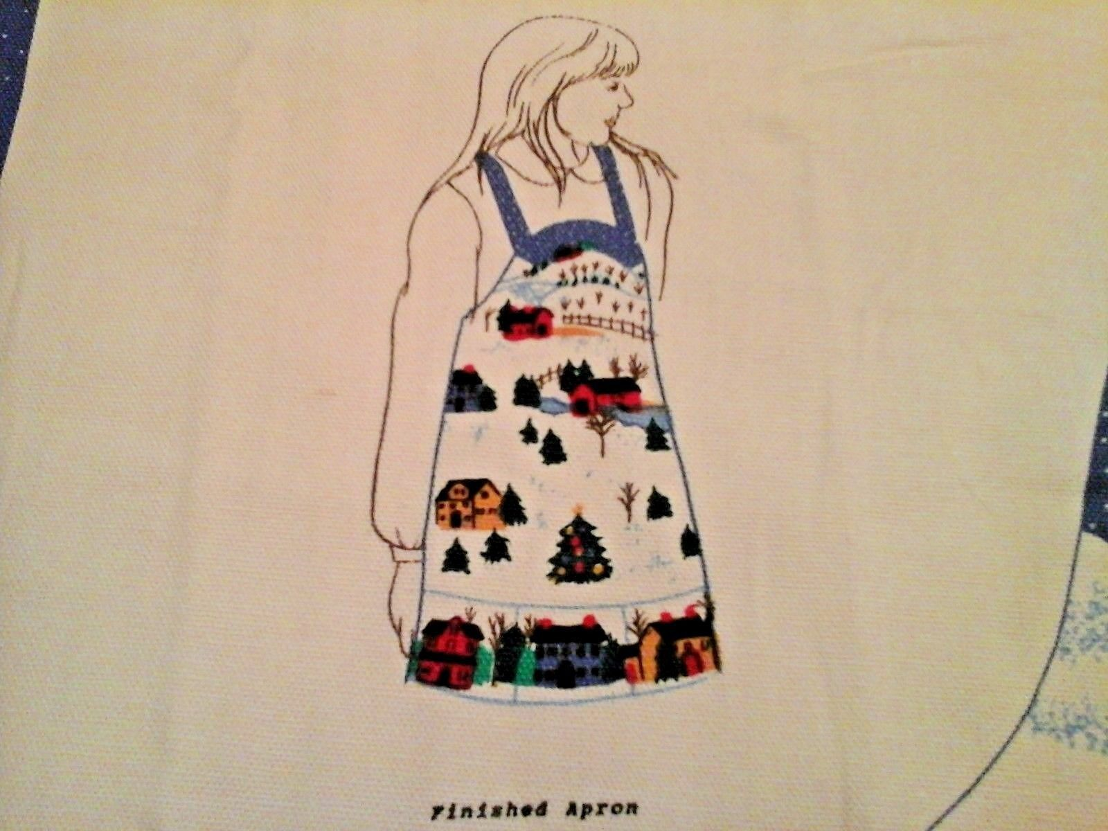 Heart Of The Country Christmas Apron Cut and Sew 1992 Fabric Traditions