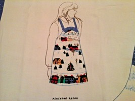 Heart Of The Country Christmas Apron Cut and Sew 1992 Fabric Traditions  - $12.86