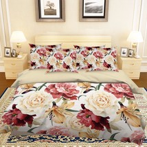 3D Flowers 315 Bed Pillowcases Quilt Duvet Cover Set Single Queen King S... - $64.32+