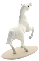 Hagen-Renaker Miniature Ceramic Horse Figurine Wild Arabian on Base White image 3