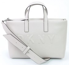 DKNY Donna Karan Tilly Faux Leather Light Beige Small Tote Bag Handbag R... - $163.99