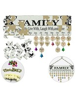 FamGift Family Birthday Calendar Jigsaw Puzzle Board [2 Sets Jigsaw Puzz... - $15.96