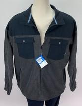 Columbia Men's Steen Mountain Novelty Fleece Jacket Charcoal Heather 2XL - $39.59
