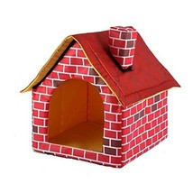 Portable Dog House Bed Brick Designed Folding Cozy Room For Small Pet Ca... - $34.64