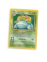 1999 Pokemon Game Base set Shadowless 1st Edition Venusaur Holo Rare  - $39.60