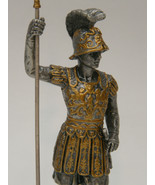 2005 Veronese Myths and Legends Pewter Knight Holding Spear Ram Horn Hel... - $21.95
