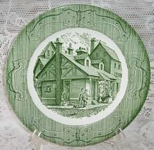 4 Royal China Old Curiosity Shop Dinner Plates Green Vintage - $21.03