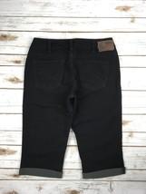SILVER Jeans Capris Mid Rise Suki Black Denim Cropped Capri Stretch Jean... - $39.97
