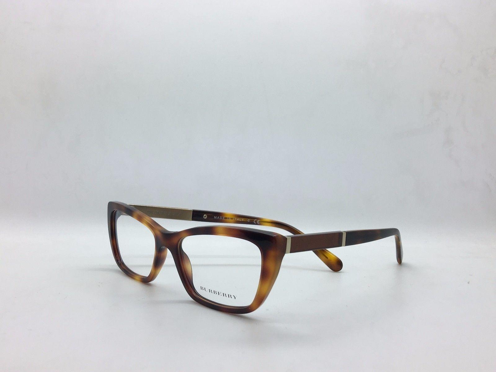 fc0c2ec35a8 Burberry BE B 2236 3316 Light Havana Plastic Cat Eye Eyeglasses women 52mm
