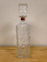 Vintage Tall Clear Glass Decanter w/ Stopper Mid Century - $24.95