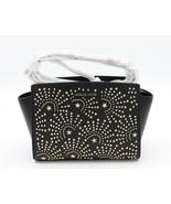 NWT MICHAEL Michael Kors Black Leather Studded Messenger Crossbody Bag N... - $178.00