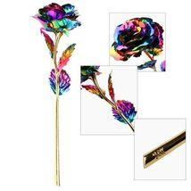 Rose Flower Multi-Color Plated Rose Romantic Valentine Day - 1 x Random Color image 12