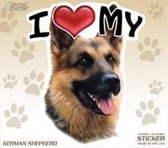 "Set of 2 Two I Love My German Shepherd Dog 4"" Car Truck Home Sticker Decal - $8.50"