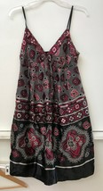 ECI New York Multi Color Floral  Lined Silk Blend Spaghetti Strap Dress ... - $17.95