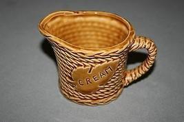 VINTAGE © 1970's Rope Braid Pattern Golden Brown Ceramic Creamer - Made ... - $15.91