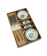 Kylin Express Elegant Ceramic Dishes Set with Circular Plates and Chopst... - $29.32