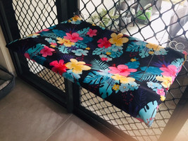 Cat Bed Window Seat Hawaiian Floral removable cover - $89.00