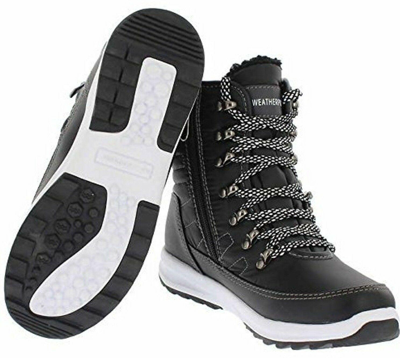 NEW Weatherproof Womens Black Water Repellent Alexa Winter Sneaker Ankle Boots