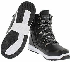 NEW Weatherproof Womens Black Water Repellent Alexa Winter Sneaker Ankle Boots