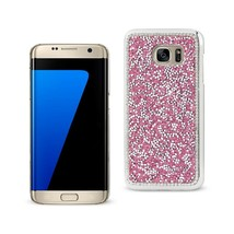 REIKO SAMSUNG GALAXY S7 EDGE JEWELRY BLING RHINESTONE CASE IN PINK - $9.32