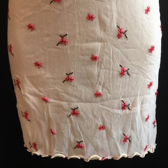 On Gossamer pink floral mesh sleep dress  S NEW