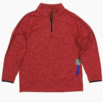 G/FORE Men's Golf Pullover 1/4 Zip 'Space Dye' Red Black Long Sleeve - $74.99