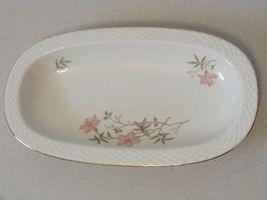 """9 1/8"""" Johann Haviland Barvaria Modell oval serving bowl dish pink flower ~E - $10.00"""