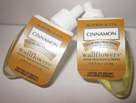 2 Bath & Body Works Wallflower Diffuser Refill Bulb Odor Neutralizing Cinnamon - $24.95
