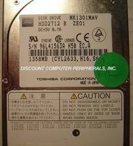 "1.3GB 2.5"" 12.7MM IDE Drive MK1301MAV Toshiba HDD2712 Tested Good Free U... - $19.55"
