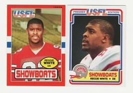 1984 Topps USFL Reggie White Rookie Football Card #58 & 1985 Topps #75 - $74.24