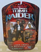 2001 PLAYMATES TOYS TOMB RAIDER LARA CROFT FIGURE IN MOTORCYCLE GEAR SEA... - $18.49