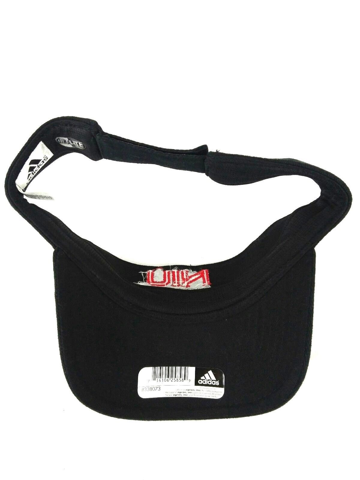 NIU Football Huskies Adidas Black Adjustable Climalite Adjustable Visor Hat