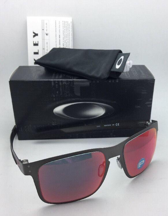 fb7932100 Polarized OAKLEY Sunglasses HOLBROOK METAL OO4123-05 Gunmetal w/ Torch  Iridium