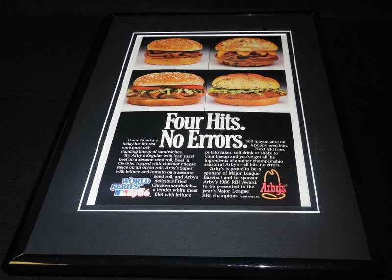 1986 Arby's / World Series Framed 11x14 ORIGINAL Vintage Advertisement