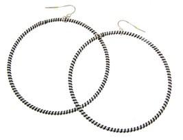 Blue Hoop Earrings For Women Statement Earrings Fashion Earrings 113704  - $11.79