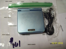 Nintendo GameBoy Advance SP Pearl Blue Handheld System With USB Charger... - $43.48