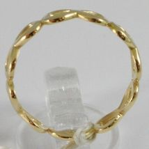 ANELLO IN ORO GIALLO 750 18K, FILA DI SIMBOLI INFINITO, MADE IN ITALY image 3