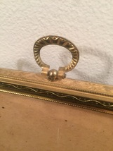 "Vintage 40s gold ornate 5"" x 7"" frame with top hanging circle design image 2"