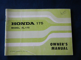 1973 73 Honda Xl 175 XL175 Ko Motosport Owner Owner's Manual - $38.12