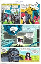 Original 1978 DC Comics JLA foe color guide art page:Star Sapphire/Gorilla Grodd - $99.50