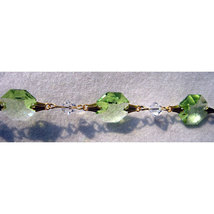 Colored Crystal Gold Bailed Octagon Bracelet image 4