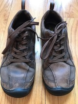 KEEN Brown Leather Hike Trail Lace Up Shoes Sneakers Women's Size 7 - $34.64