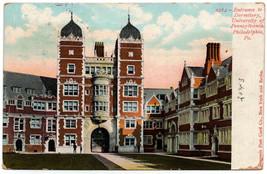 1903 Philadelphia PA Entrance to Dormitory University of Pennsylvania Po... - $7.38
